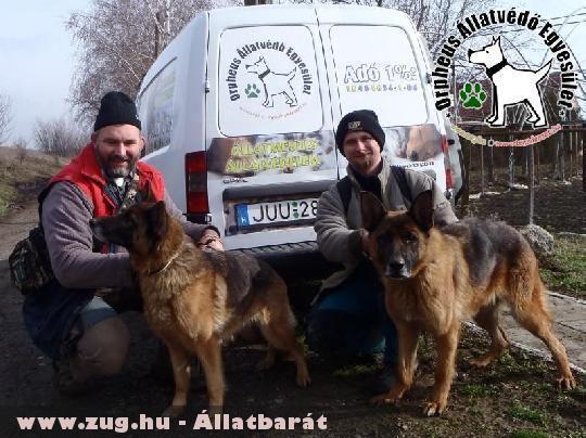 Állatbarátok adó 1%-nak köszönhetõen Alíz és Rexa megmenekült és szeretõ helyre került